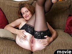 Tall willowy mom Camille Johnson is an American babe with a constant urge to masturbate.