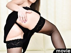 Slim shortie Angel Karyna is a European mom with a body that she loves to show off.