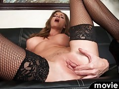 Silvia Sage wants to show you how much the right bra and thong can accentuate her mature body.