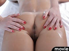 Check out Lindsay and Liza as they enjoy a wet lesbian massage and then finish each other off with their magic fingers