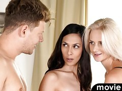 Ashley Ocean invites her friend Katy Sky for a hardcore threesome that gets both their horny pussies pulsing